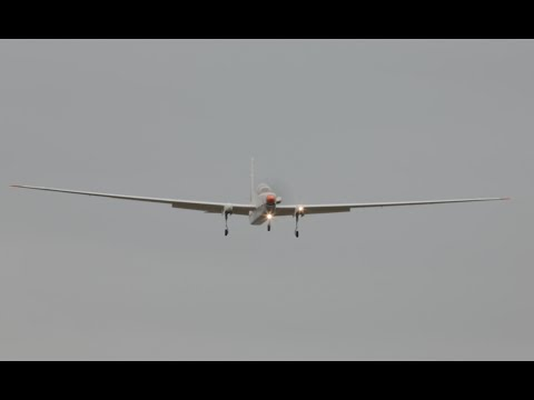 "Surveillance aircraft ""Spy plane"" Grobe G520 NG ""Eye in the Sky"" landing at Farnborough airport"