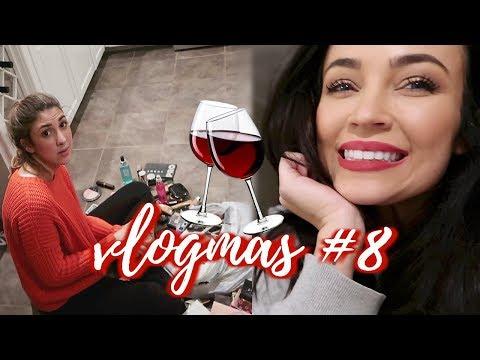 NO MORE DECORATING + WINE NIGHT: VLOGMAS #8 | Stephanie Ledda