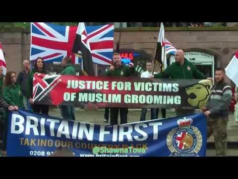 Britain First Fighting Back - Paul Golding & Jayda Fransen, Rotherham 6th Sept HD