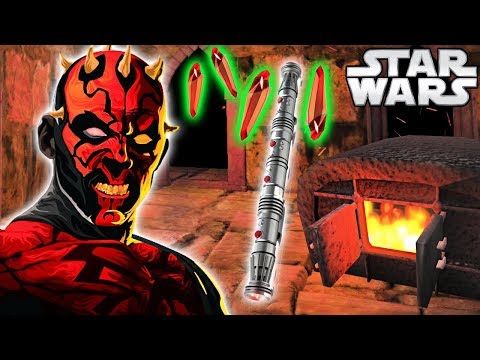 How Darth Maul BUILT His RARE Lightsaber (Animated) - Star W