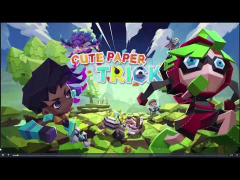 cute paper TRICK little multiple-player online game with the the art style as origami