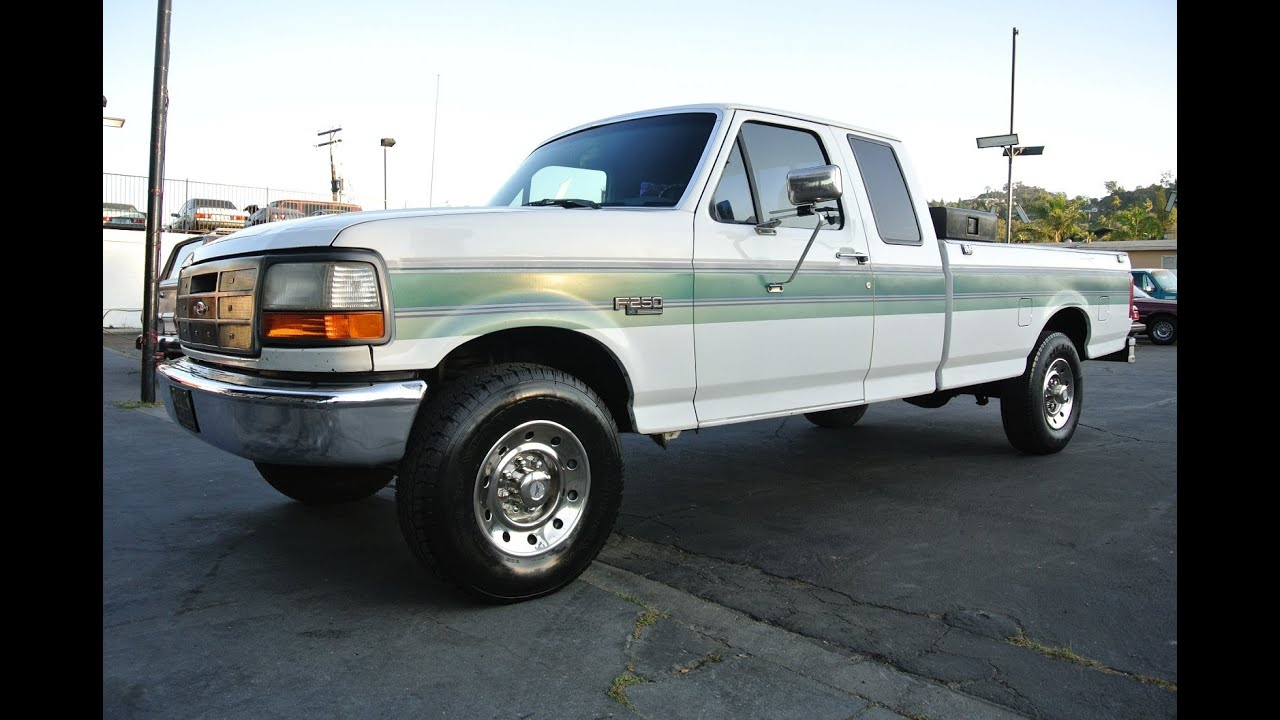 1993 ford f250 2 owner 128k xtra cab pickup truck low mile for sale youtube. Black Bedroom Furniture Sets. Home Design Ideas
