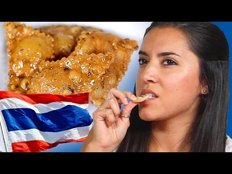 Americans Try Thai Snacks