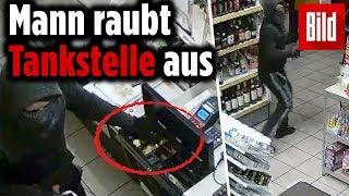 Polizei sucht Zeugen: Mann raubt Tankstelle in NRW aus