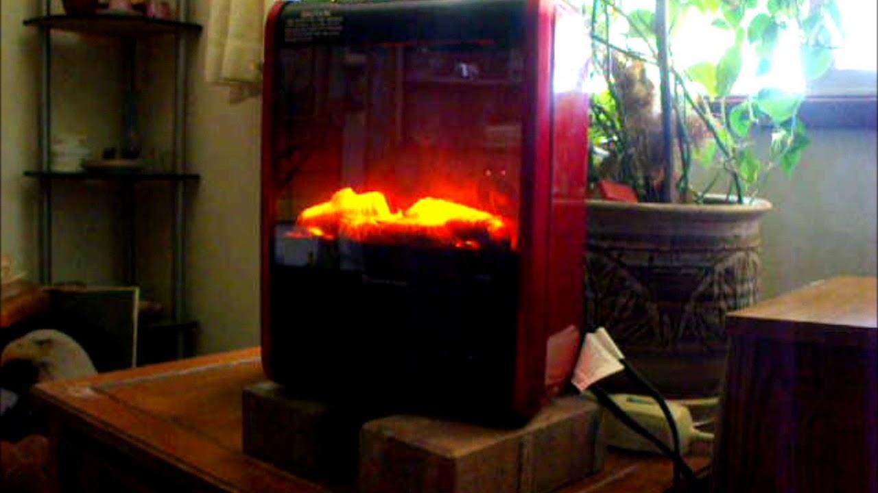 Comfort Zone Ceramic Mini Fireplace Heater