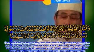 H MUAMMAR Z.A SUROH AL AHZAB AYAT 21-22