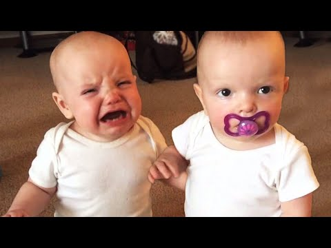 Twin Baby Girls Fight Over Pacifier | Cutest Babies | KYOOT