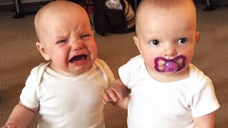 Download lagu Twin Baby Girls Fight Over Pacifier | Cutest Babies | KYOOT