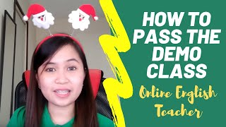 How to pass the demo class (Acadsoc)