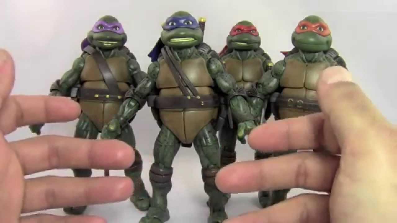 Custom 1990 Teenage Mutant Ninja Turtles Action Figures Review