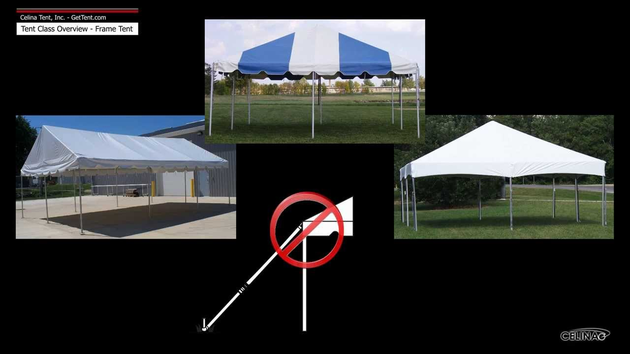 Frame Tents & Canopies: Class Overview - YouTube