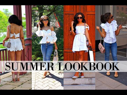 SUMMER OUTFITS OF THE WEEK - SUMMER LOOKBOOK 2017 - How To Wear All White! - 동영상