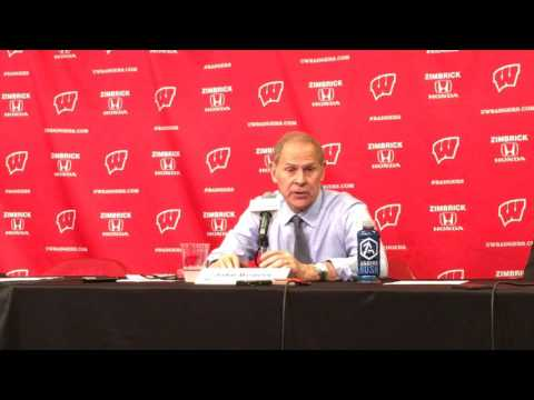John Beilein discusses loss to Wisconsin,