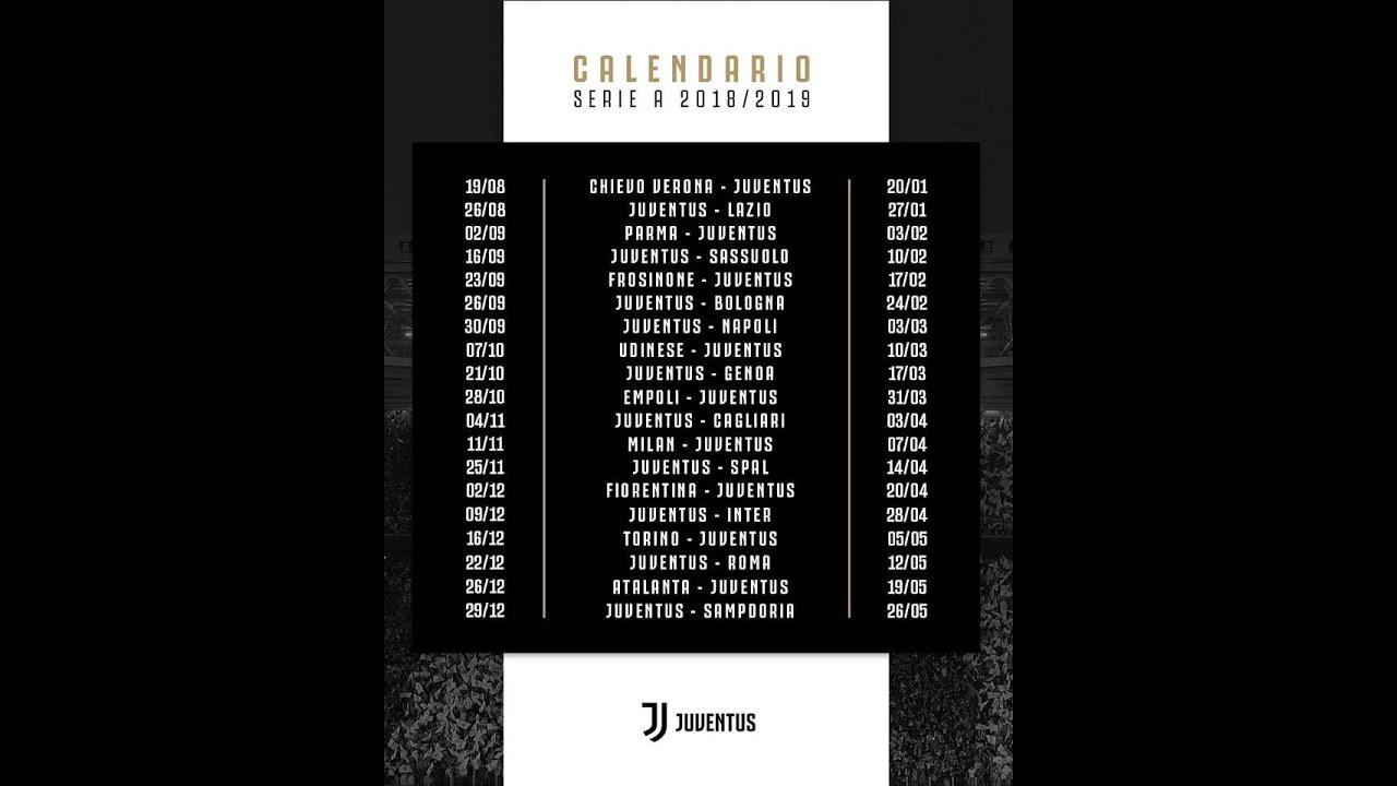 Calendario Juventus Campionato.Ecco Il Calendario Della Serie A 2018 2019 Un Altro Campionato Da Azzannare