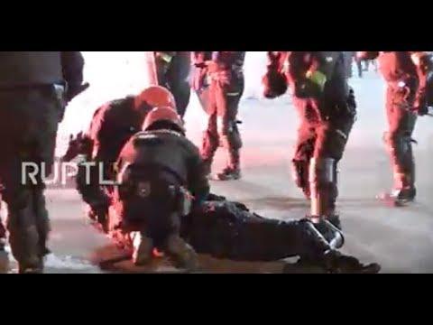 Spain: Police officer dies as violent football fans clash in Bilbao