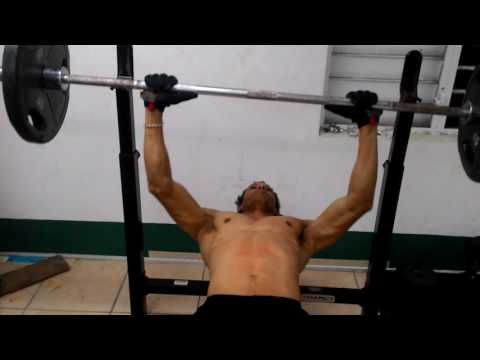 Mark Gordon in the gym after training