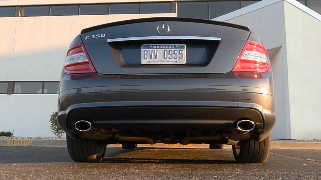 2009 C350 Stock Exhaust Youtube Mercedes Benz
