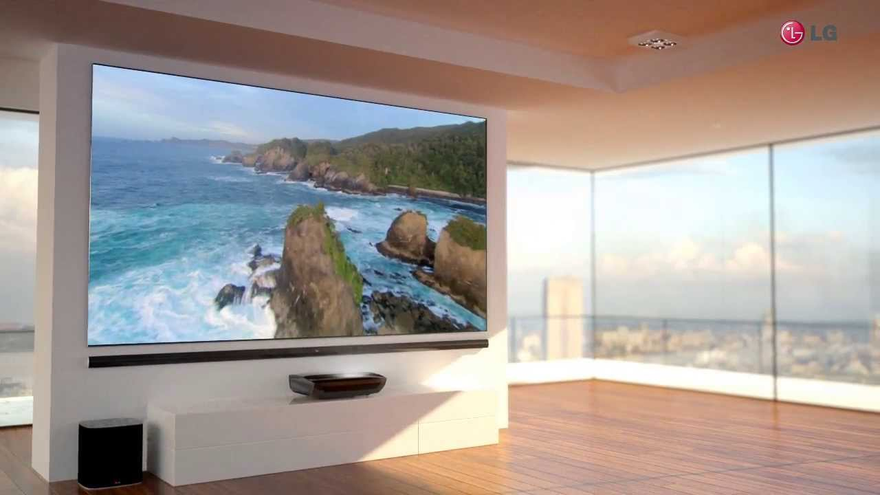 LG HECTO 100 ZOLL Laser TV - YouTube