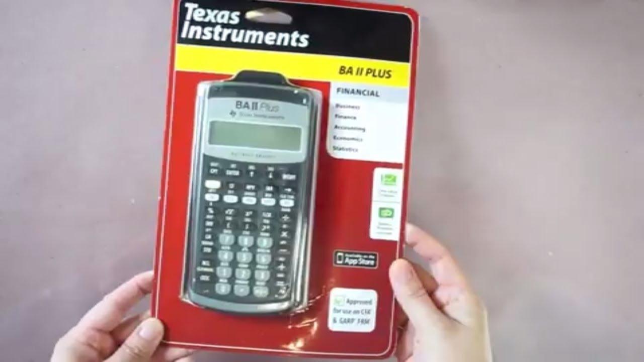 8861b02a4e Just got my Texas Instruments BA II PLUS - Financial Calculator