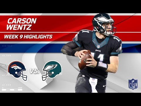 Carson Wentz Overpowers the Secondary for 4 TDs! | Broncos vs. Eagles | Wk 9 Player Highlights