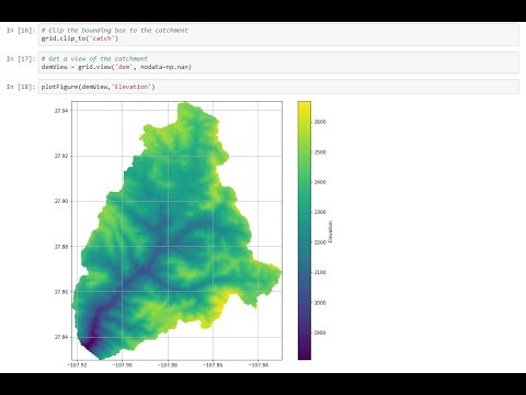 Elevation Model Conditioning and Stream Network Delimitation with Python and Pysheds - Tutorial thumbnail