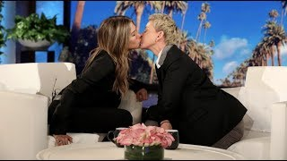 Jennifer Aniston And Ellen's Picture Perfect Kiss