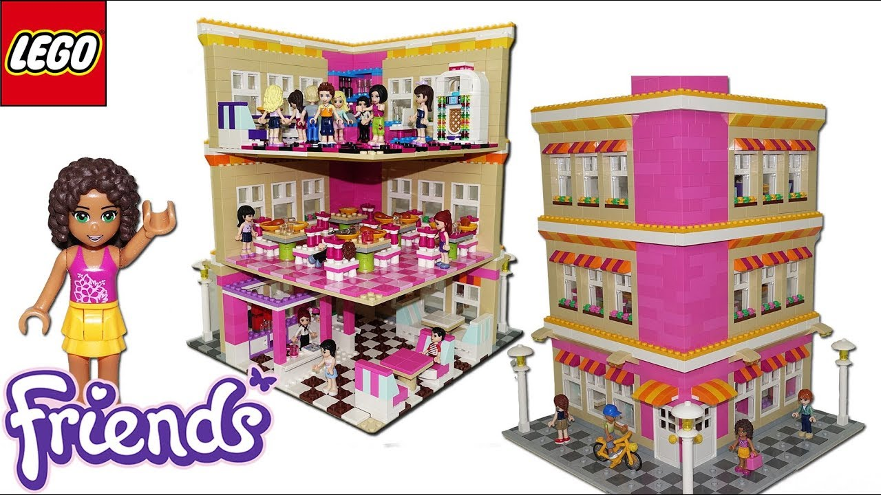 Lego Friends Restaurant By Misty Brick Youtube