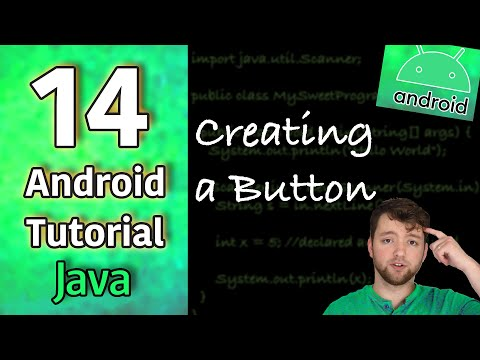 Android App Development Tutorial 14 - Creating a Button | Java thumbnail
