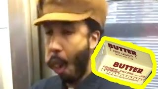 Is This Guy EATING BUTTER on the Subway? | What's Trending Now