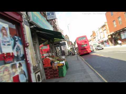 Walk Along Willesden High Road to Bus Station in London