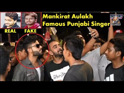 Fake Celebrity Prank | MANKIRT AULAKH Punjabi Singer  | Fans Awesome Reactions