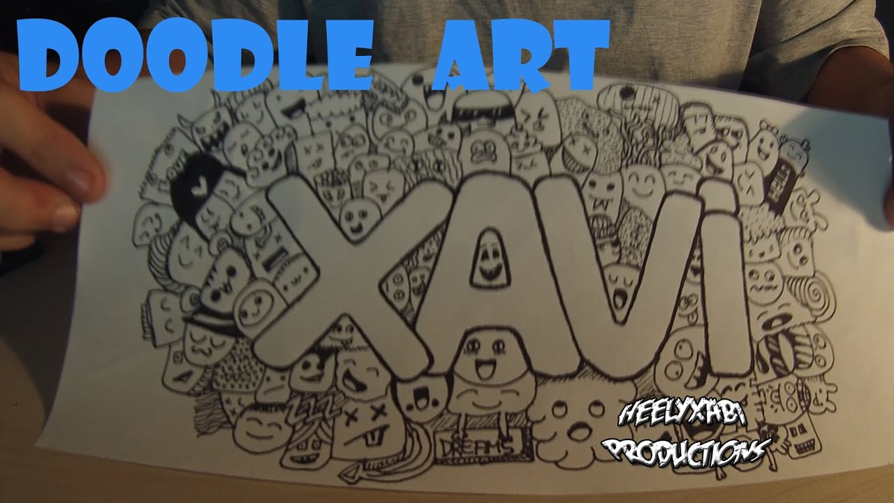 doodle art my name youtube