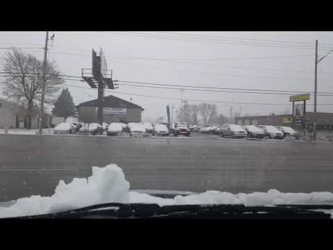 Driving in the snow in Appleton, Wi