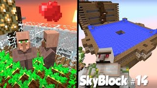 SkyBlock #14: Ферма Жителей и Ферма Железа!