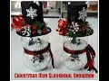 Tricia's Creations: Christmas Mini Glassbowl  Snowman