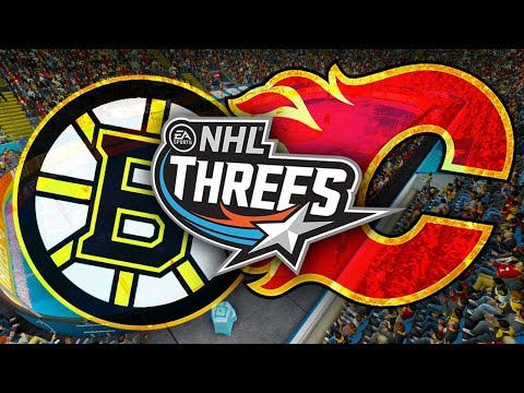 NHL 18: Threes Gameplay (Calgary Flames VS Boston Bruins)