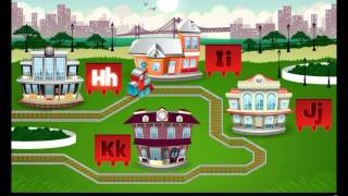 Kids English Learning Train Game - I J K H Alphabets