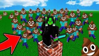 ME vs 1000 POOP EMOJI ATTACKERS! Minecraft - Bedwars