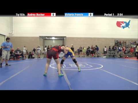 FILA Junior 72 kg / 158.5 lbs. - Audrey Bucher vs. Victoria Francis