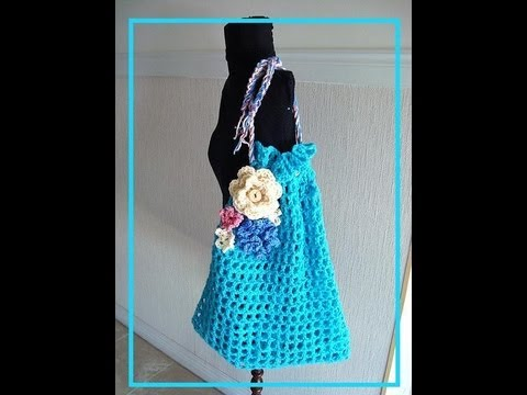 ... crochet a Market Bag, free crochet pattern, bags and purses, - YouTube