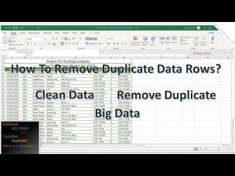 How To Remove Duplicate Data Rows From Big Data In Excel - Advanced Filter?