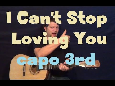 I Cant Stop Loving You Ray Charles Easy Guitar Lesson How To Play