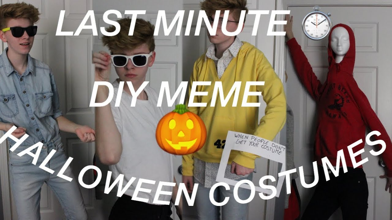 last minute meme halloween costume ideas youtube
