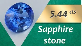 Sapphire Stone. 5.44 Carats Natural Stone of Sapphire