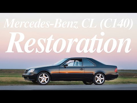видео: Реставрация автомобиля - mercedes-benz cl coupe w140