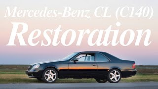 car body restoration - mercedes-benz cl coupe w140