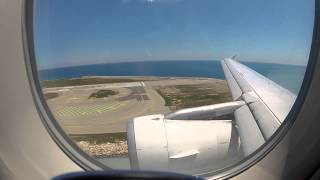 Swissair A320 Beautiful and Rough Landing in Nice
