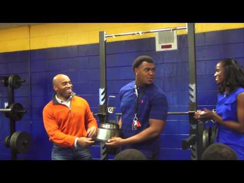 Andrew Brown National Football Player of the Year_Behind the Scenes