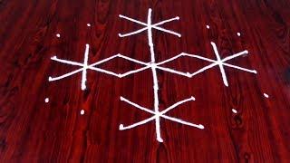 How To Rangoli Designs With 7-4 Dots Geethala Geethala Muggulu With Dots