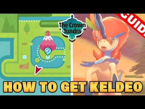 How To Catch KELDEO in Pokemon CROWN TUNDRA DLC